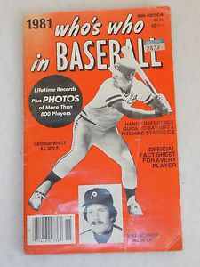 Who S Who In Baseball Magazine 1981 66th Edition Kansas City S George Brett George Brett Sports Books Sports Magazine
