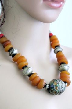 Vintage Moroccan Tiznit Berber Tribal Jewelry Necklace