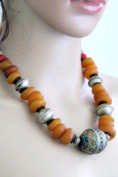 Vintage Moroccan Tiznit Berber Tribal Jewelry Necklace