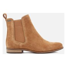 Superdry Women's Millie Suede Chelsea Boots (2.345 UYU) ❤ liked on Polyvore featuring shoes, boots, ankle booties, ankle boot, brown, tan, short brown boots, suede booties, brown ankle boots and brown booties