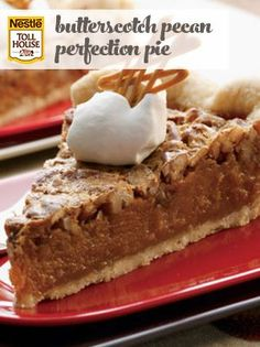 Butterscotch Pecan Perfection Pie is simple with a Southern flair. Try it as a snack or as a perfect ending to a special meal or festive occasion. Just Desserts, Delicious Desserts, Yummy Food, Autumn Desserts, Eat Dessert First, Pie Dessert, Pie Recipes, Dessert Recipes, Dessert Ideas