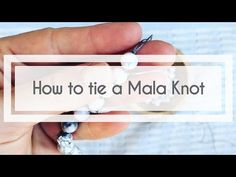 """How to Make a Mala - Tying the Mala Knot! People often ask us if it's too hard to make your own mala. They may say they are not a """"crafty"""" person and that they've never made jewelry before. We always reassure them that they will do great! Sliding Knot, Mala Necklace Diy, Necklace Ideas, Pearl Necklace, Diy Mala Beads, Fuse Beads, Pearl Pendant, Diamond Pendant, Necklace Tutorial"""