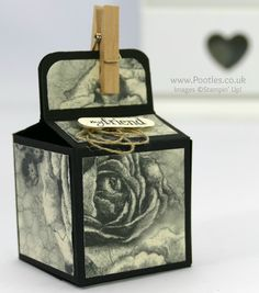 Stampin' Up! Demonstrator Pootles –2 inch 5cm Cube Box Tutorial Using Timeless Elegance Oh my heart! My broken heart. I'm losing the Timeless Elegance Paper, Wooden Pegs and Word…