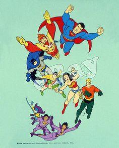 Rare! SUPER FRIENDS Cartoon Color TV Photo HANNA BARBERA Studios SUPERMAN Batman