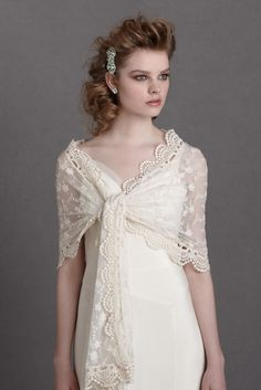 Find the perfect wedding dress cover up at BHLDN, Anthropologie's sister brand. Shop our stunning collection of vintage-inspired wedding boleros. Wedding Looks, Bridal Looks, Bridal Dresses, Bridesmaid Dresses, Autumn Bride, Autumn Wedding, Bridal Shawl, Bhldn, Wedding Styles