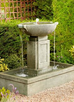 The shapely Brielle Cast-stone Fountain has a broad, deep base that will quickly become a garden or patio focal point. Water cascades from the center of the oval top tier, over both sides, and is then recirculated by the included pump.