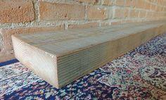 "Rustic Reclaimed Barn Wood Mantle Shelf 95"" x 7-1/2"" x 2-1/2"" - Reclaimed Barn Beam Mantel Shelf - Kitchen Display Mantle Shelf - Office"