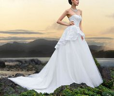 White/Ivory Wedding Dress Bridal Gown Custom Size 2-4-6-8-10-12-14-16-18-20+