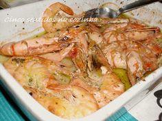 Cinco sentidos na cozinha: Camarão no forno com alho e limão