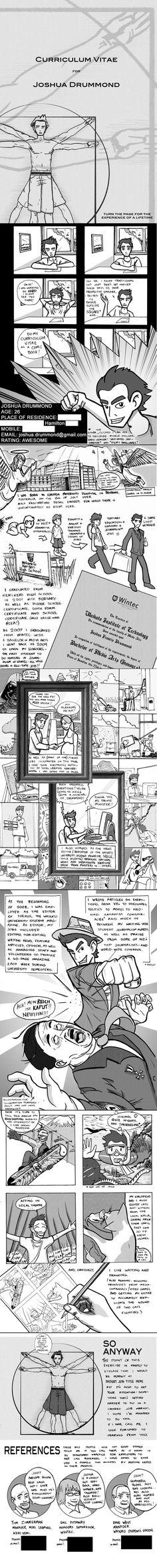 comic book resume by ~maverickcarter on deviantART