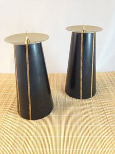 Bog Oak Candle Sticks Tapered Cylinders with by AdamsonandLow