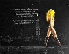 No matter how outrageous or weird she may seem...I love Lady Gaga...free spirit that most do not have the guts to be!