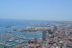 Alicante Marina - view from Santa Barbara Castle