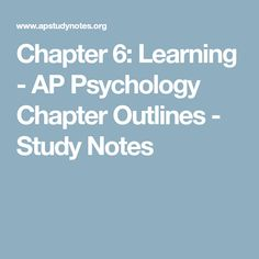 chapter 6 learning psychology test