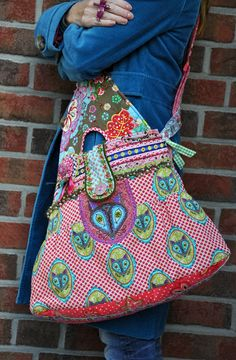 Farbenmix fabric tote bag, purse, messenger bag. isabella Tasche selber nähen
