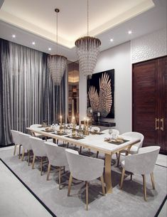40 Simply But Elegant Dining Room Decoration Ideas - When you are shipping for dining room sets, it is anything but difficult to move toward becoming overpowered with every one of the decisions that are . Dining Room Decor Elegant, Luxury Dining Room, Modern Dining Table, Dining Room Sets, Dining Room Furniture, Dining Tables, Kitchen Tables, Modern Furniture, Table Design