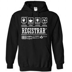 REGISTRAR - #girl tee #tshirt estampadas. LIMITED TIME => https://www.sunfrog.com/Valentines/REGISTRAR-Black-Hoodie.html?68278