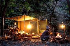 Glam Camping, Camping Style, Outdoor Camping, Glamping, Station 11, Camping Furniture, Campsite, Bushcraft, Places To Travel