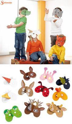 #Tiermasken... super für #Rollen- und #Theaterspiele. Die Masken zum selbstgestalten findet Ihr unter: https://shop.wehrfritz.de/de_DE/masken-einheimische-tiere-papier-sachenmacher/p/076980_1?zg=sachenmacher_wecom&ref_id=60848