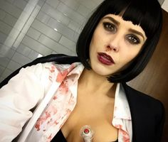 Pin for Later: ICYMI: The 17 Best Celebrity Halloween Beauty Costumes of 2015 Sophia Bush Sophia played the part of Mia Wallace from Pulp Fiction perfectly.