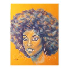 Orange is the New Black African American Art Wall Art by brtyche