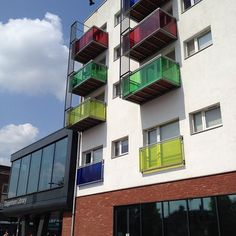 Colourful balconies above the Library, #Dagenham #essex