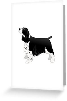 English Springer Spaniel Basic Breed Silhouette • Also buy this artwork on stationery, apparel, stickers, and more.