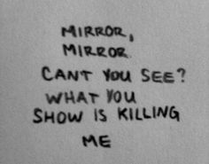 Mirror mirror oh so rare it is when I look into you that I see someone there-sb