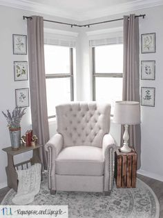 Transforming a Room with Corner Curtains and a Corner Curtain Rod Hack Living Room Decor Curtains, Living Room Windows, Living Room Furniture, Bedroom Decor, Corner Curtain Rod, Corner Window Curtains, Window Seats, Window Blinds, Corner Window Treatments