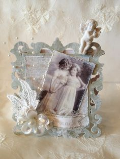 Maja Design romantic 3 double easel card and gift bag/ card