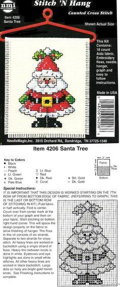 Cute little Santa X-stitch