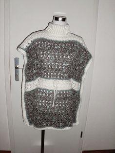 Wintertunika gehäkelt. Eine Tunika zum Binden. Kostenlose Anleitung, free crochet pattern winter tunic