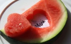 Love Watermelon Carving Wallpaper