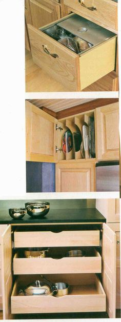 Kitchen cabinet ideas...makes so much more sense and so much more storage!