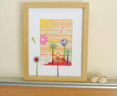 Girl Nursery Wall Art Eco Friendly Collage by littlebigtopstudio, $37.50