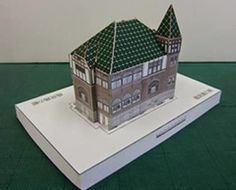 Miniature Japanese Architectural Paper Models - by Kobe Sumai Machi - == - In this website called Kobe Sumai Machi you will find three miniature paper models of Japanese buildings that are perfect to decorate your desktop or shelf.