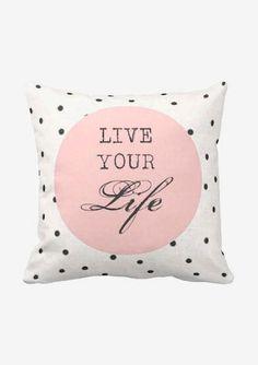 Pillow Cover Jolie Marche Live your Life