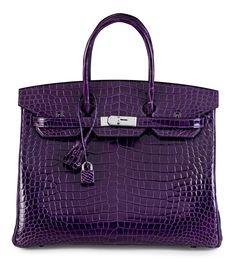 4926699b79c4 Gimme... Gimme... GIMME! Starting bid at Christie s for Lot No 1 is  72.5k  A 35CM SHINY AMETHYST POROSUS CROCODILE BIRKIN BAG