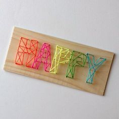 Pin 'Em All: Fun Crafts to Make With Your Kids - Happy Sign