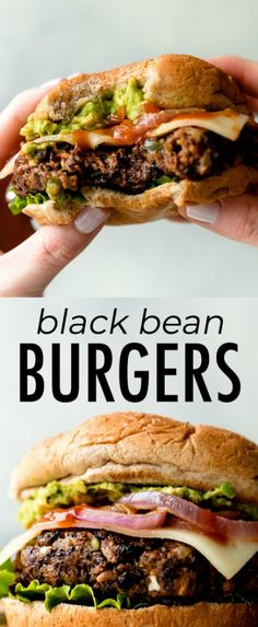The BEST black bean burgers, grilled or baked! Meat lovers went crazy for these … The BEST black bean burgers, grilled or baked! Meat lovers went crazy for these veggie burgers. Lots of flavor with a sturdy, meaty texture. Grill or bake the black bean bur Diet Recipes, Vegetarian Recipes, Cooking Recipes, Healthy Recipes, Healthy Black Bean Recipes, Vegetarian Cooking, Healthy Beans, Going Vegetarian, Vegetarian Breakfast
