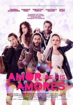 Amor De Mis Amores is a 2014 Mexican romance-comedy-drama film written and directed by Manolo Caro. The film stars Sandra Echeverría, Marimar Vega, Sebastián Zurita, Erick Elias, Juan Pablo Medina, Mariana Treviño, Rossy de Palma, Camila Selser, and Sol Méndez Roy. Plot: Days before her wedding, a woman (Echeverría) believes she's falling in love with a stranger (Zurita) who is also headed for the altar, and their lives change dramatically.
