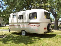 87 Scamp Vintage Travel Trailer Tear Drop fiberglass Casita Burro Style trailer trash, vintage travel trailers