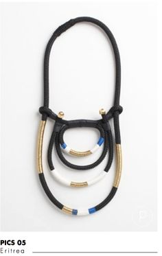 Eritrea necklace by Pichulik, a really unusual necklace that is very striking.
