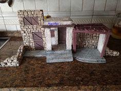 Continuando con la construcción del Belén y dando vueltas de como hacer las edificaciones pero que a la hora de desmontar el Belén no ocupe...