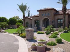 Again, a little rock, pavers, and boulders and you have a simple, low maintenanc… - low maintenance front yard landscaping ideas Cheap Landscaping Ideas, Outdoor Landscaping, Front Yard Landscaping, Arizona Landscaping, Front Walkway, Front Steps, Modern Landscaping, Little Rock, Pool Landscape Design