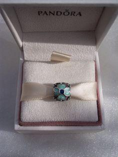 Authentic Pandora Blue Daisy Enamel Bracelet by JEWELSELAGANT