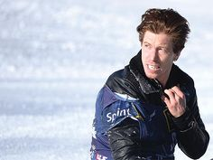 Shaun White after his wipeout on slopestyle at Mammoth Mtn. Could have been a disaster. He walks away ok! HARRY HOW/GETTY