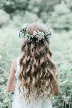 45253d65436 flower girl flower crown hairstyle Flower Crown Hairstyle, Flower Girl  Hairstyles, Crown Hairstyles,