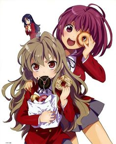 toradora! I love that Ami is sneakily eating a donut in the background