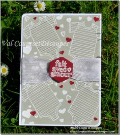 CoupesEtDecoupes - Independent Demonstrator Stampin'Up Paris (France) - Blog Hop Chicks April 2016 - Babies - Made With Love Stamp Set